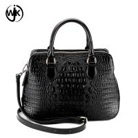 China designer genuine leather bag fashion design China factory lady handbag top quality emboss crocodile leather bag wholesale