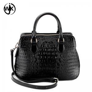 China designer genuine leather bag fashion design China factory lady handbag top quality emboss crocodile leather bag wholesale