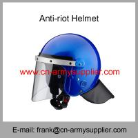 Wholesale Wholesale Cheap China UN Blue Scratch-resistant Police Anti-Riot Helmet from china suppliers