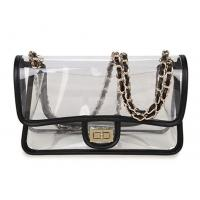 China High Transparency PVC Cosmetic Bag Cross - Body Purse Bag With Chain Shoulders on sale