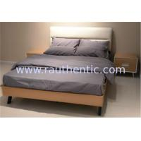 China Modern Nordic comfortable solid wood bed with Double size and Metal supporting legs,Oak bedroom bed wholesale