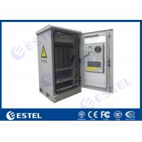 China Single Wall Outdoor Telecom Cabinet 24U Temperature Control Assembled Structure wholesale