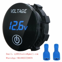China Small Voltmeter with touch switch amber for Motorcycle Car wholesale