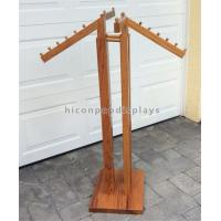 China Floor Standing Retail Clothing Racks 4 - Way Oakwood High End Store Fixtures wholesale