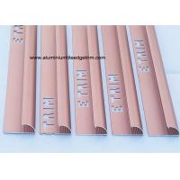 China Smooth Matt Anodized Aluminium Curved Edge Tile Trim With Red Copper wholesale