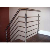China decor indoor stainless steel pipe Rod railing  fittings mild steel railing for staircase wholesale