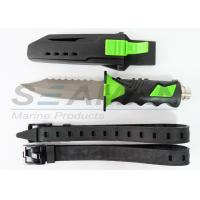 China Titanium scuba diving knife water sports equipment with sheath and straps wholesale