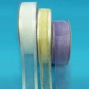 China Organza Sheer Ribbon, Various Sizes and Put-ups are Available wholesale
