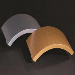 China Anodic Oxidation PE Coated 1200mm Wooden Aluminum Veneer Panel wholesale
