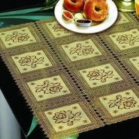 China PVC Lace Vinyl Tablecloth, Various Sizes are Available, Comes in Lace Design on sale