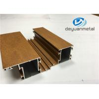 China 1.1mm - 1.6mm Thickness Wooden Grain Aluminum Window Extrusion Profiles SGS wholesale