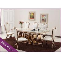 China Rose Gold Stainless Steel Dining Table Chairs For Dining Room (YS-2) wholesale