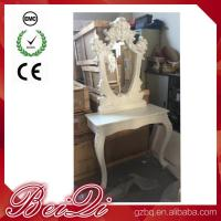 China Princess Salon Mirror for Barber Shop Furnture Wood Mirror Table Luxury wholesale