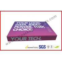 China Soft Touch Lamination Rubber Finished Cardboard Gift Boxes Hi End USB Recyclable Display wholesale