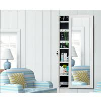 China Lockable Wall Mirror With Jewelry Storage , Full Length Mirror Jewellery Cabinet wholesale