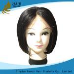 China Fashion Short Style Human Hair Bob Wigs , African American Human Hair Weave wholesale