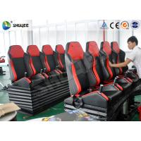 China Attractive Entertainment Project 6D Cinema Equipment With Red 4 Seats Per Set on sale