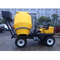 China 450L Mixing Capacity Diesel Self Loading Mobile Concrete Mixer  With Yanmar Engine Hydraulic Wheel System on sale