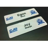 China 1.2mm Plastic Name Badges Gloss Finish 1.2mm Thickness Rectangle wholesale