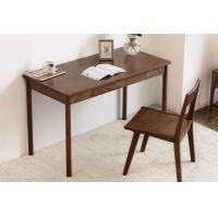 China Pure Solid Wood Study Red Oak Computer Desk Black Walnut Color Eco Friendly wholesale