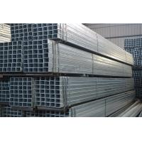 China Flat End Welded Galvanized Iron Tube , 0.25mm - 2.5mm Galvanized Square Tubing on sale