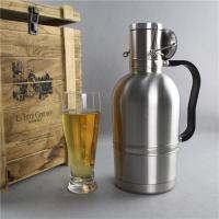 China 64Oz  Beer Growler Bottles Stainless Steel Sport Water Bottle For Beverage Companies on sale