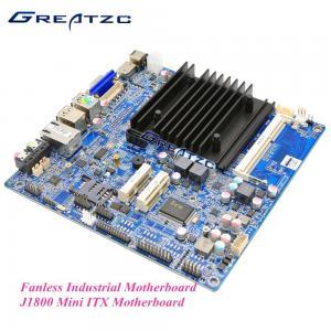 China Intel J1800 Fanless Industrial Motherboard , Fanless ITX Motherboard VGA / HDMI / LVDS wholesale