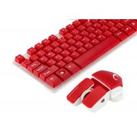 China Red Color Multimedia Wireless Keyboard And Mouse Combo No Lighting Mode wholesale