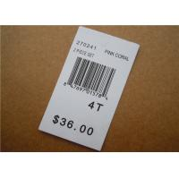 China White Clothing Brand Tags / Paper Garment Hang Tags For Clothing wholesale
