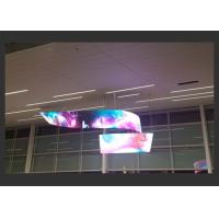 Quality Twisted Installation Soft Led Curtain Video Wall IP43/IP54 1000 Nits Brightness for sale