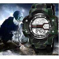 China SYNOKE Camouflage Green Men Waterproof 30m Chronograph Multifunction Pu Strap Wrist Watch 9438 wholesale