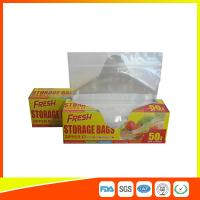 China Food Preservation Freezer Zip Lock Bags Reusable For Home / Supermarket Use wholesale
