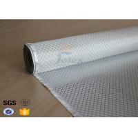 China Flame Retardant Fiberglass Fabric Silver Plated Fabric Double Sides 230g wholesale