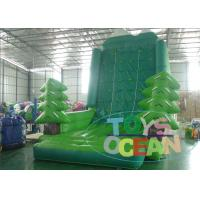 China Funny Indoor Inflatable Sport Game Rock Climbing Wall Green Tree Jungle wholesale
