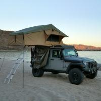 China PU Coated 4x4 Off Road Roof Top Tent With 2M Extendable Aluminum Ladder wholesale