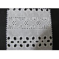 China Water Soluble White Eyelet Cotton Lace Trim / Cotton Antique Lace Trimmings CY-CX0182 wholesale
