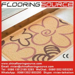 China PVC Cushion Coil Printed Mat Logo Mat PVC Cushion Door Mat Welcome Mat wholesale