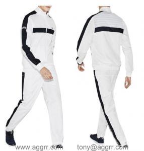 China Lacoste long suit sportswear men track suit design clothing wholesale