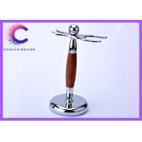 China Double edge Shaving Brush And Razor Stand with chrome real bruma rosewood handle wholesale