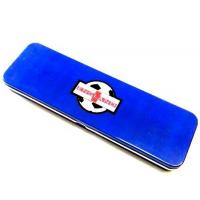 China Blue Metal Pencil Tin Box Rectangle Stationary Case For Office , 0.23mm Tinplate wholesale