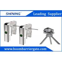 China RS485 Tripod Turnstile Gate , RFID Reader Access Pedestrian Barrier Gate wholesale