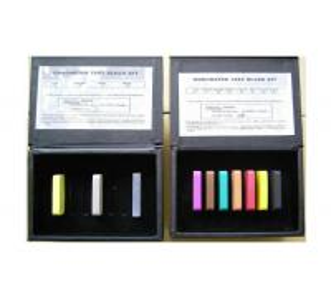 China Hardness test block for durometer shore A shore D  durometer test block Kit wholesale