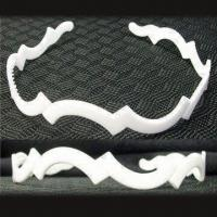 China White Plastic Headband, Various Sizes are Available, with Fabric, Ribbon and Beading wholesale