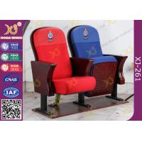 China Fire Retardant Vintage Wooden Theater Seating Chairs For Church Project wholesale