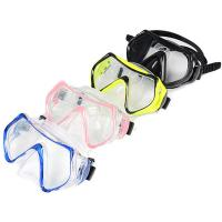 China Silicone Adult Diving Mask , Scuba Diving Equipment With Waterproof Tempered Glass Lens wholesale