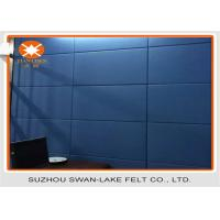 China  Dark Blue Acoustic Absorber Panels Fabric Wrapped Acoustical Wall Panels  for sale