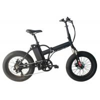 """China Folding Electric Assist Fat Bike Wheel Size 20 """" Suspension Fork LED Display wholesale"""
