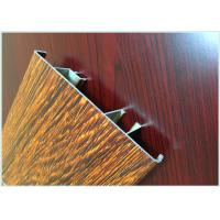 China Flat Open Wood Finish Aluminium Profiles 6005 / 6063 Strong Robustness For Window wholesale