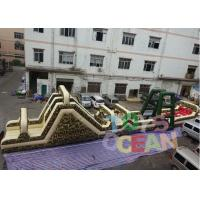 Quality 32m Length Giant Military Inflatable Obstacle Course Game For Running Race for sale