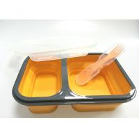 China Collapsible Silicone Lunch Containers , Lunch Box Containers With Compartments wholesale